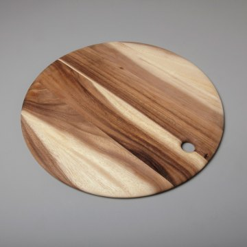 Acacia Round Board with Tapered Edge Extra Large