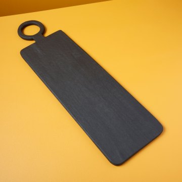 Black Mango Wood Rectangular Long Board