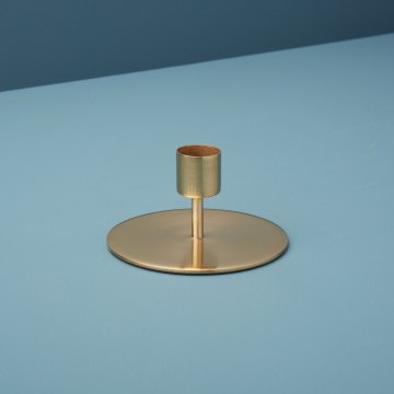 Gold Taper Candle Holder, Short