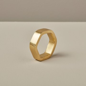 Hexagon Napkin Ring Gold