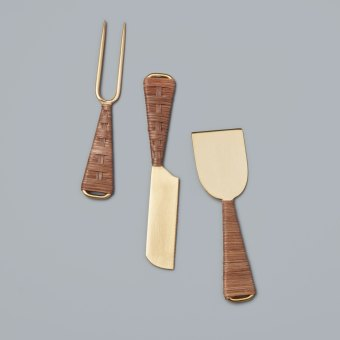 White & Gold Cheese Set of 3