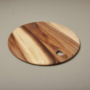 Acacia Round Board with Tapered Edge Medium