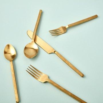 Forged Gold Flatware Set