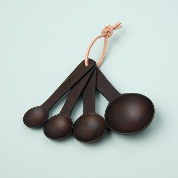 Ebony Teak Measuring Spoons Set of 4
