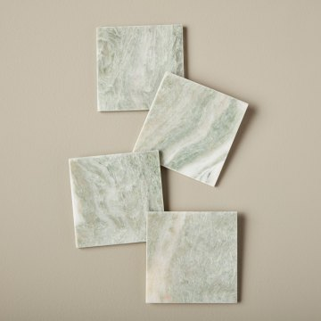 Lady Onyx Square Coasters, Set of 4
