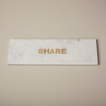 "White Marble & Gold ""Share"" Board"