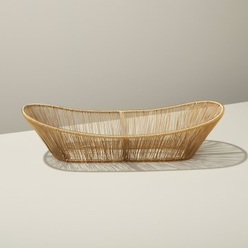 Gold Rhythm Wire Oval Basket
