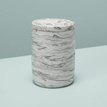 Speckled Cement Soap Dispenser, Slate