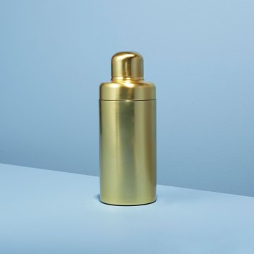 Matte Gold Cocktail Shaker