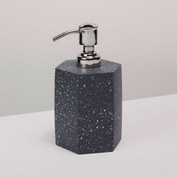 Speckled Cement Soap Dispenser, Slate