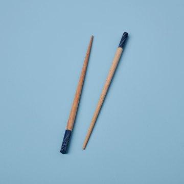 Carved Resin Chopsticks, Navy