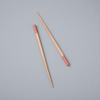Carved Resin Chopsticks, Rose