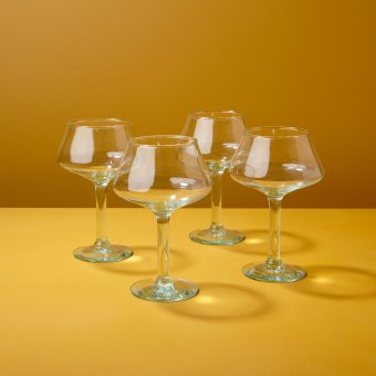 Recycled Coupe Glass