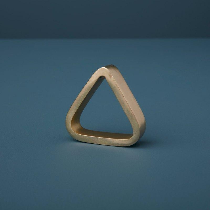 Triangle Napkin Ring, Gold