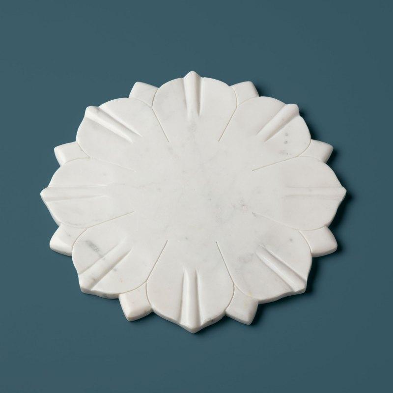 White Marble Lotus Board