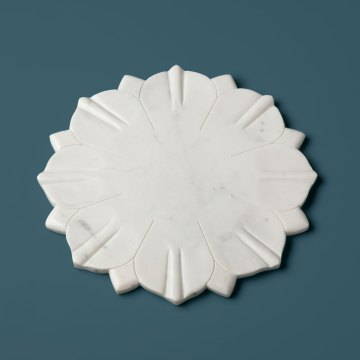 White Marble Lotus Board