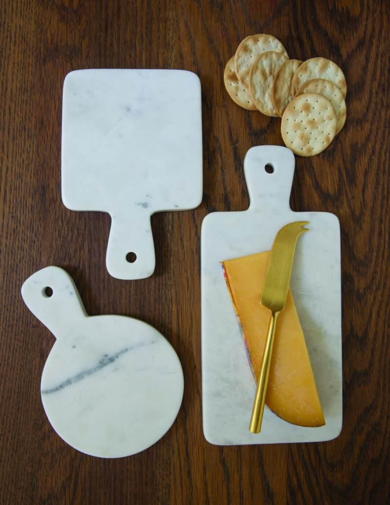 White Marble Mini Board Round