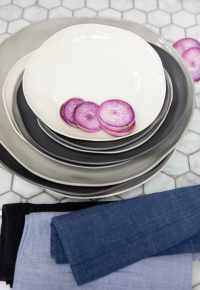 Stoneware Flat Plate White Medium 5