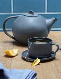 Stoneware Tea Pot, Sterling 2