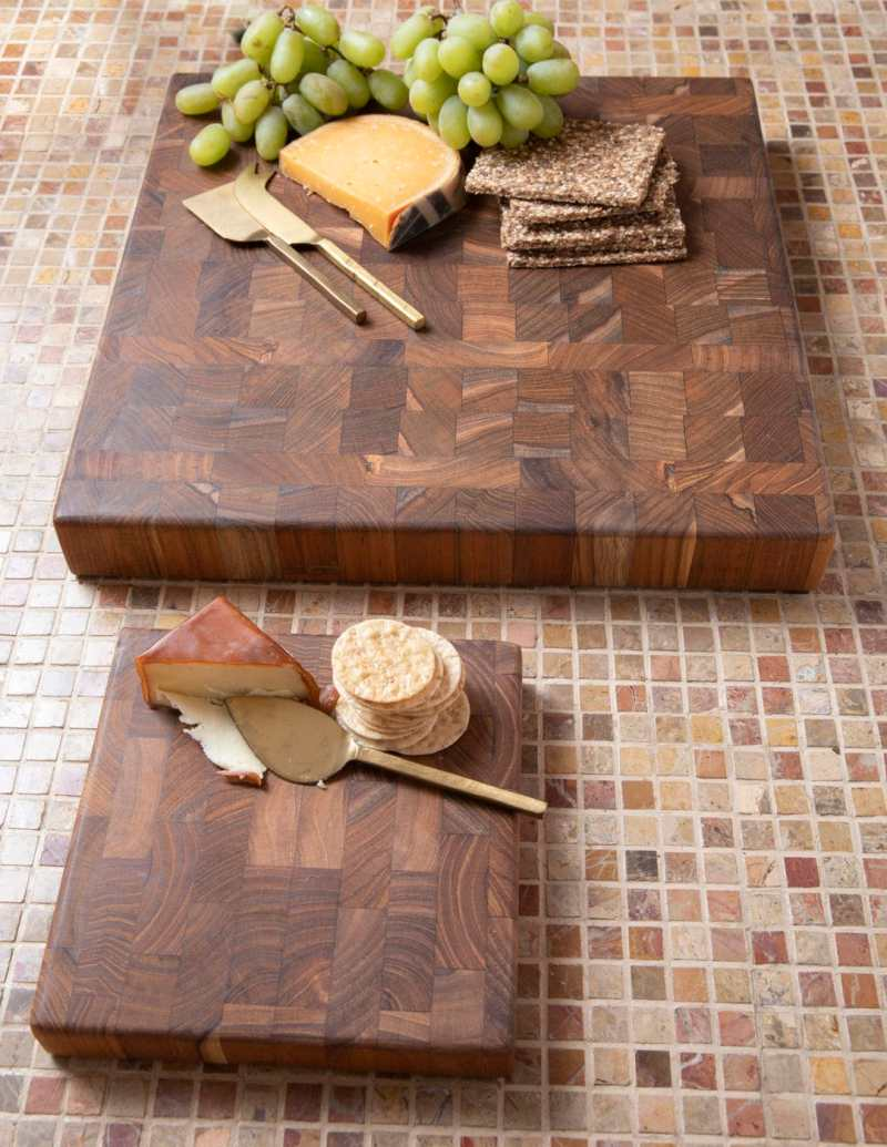 Teak End Grain Chopping Block, Small