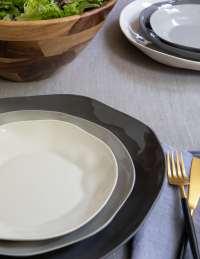 Stoneware Plate White, Large 4