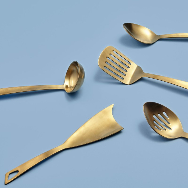 Gold Slotted Spoon