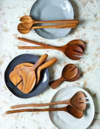 Teak Natural Shaped Serving Set 3