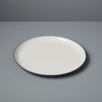 Aluminum & Enamel Round Platter, Medium