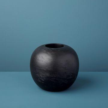 Black Mango Wood Luna Vase