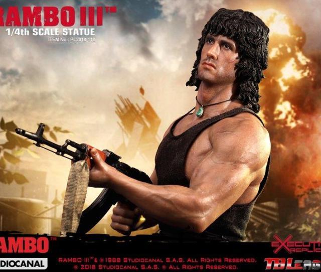 Pl 2018  4 Scale Rambo Iii Premium Statue