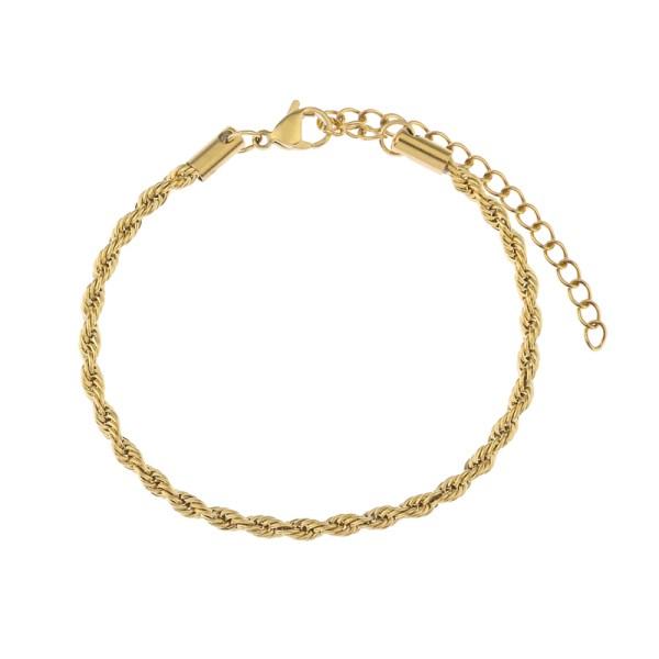 Bracelet twisted gold