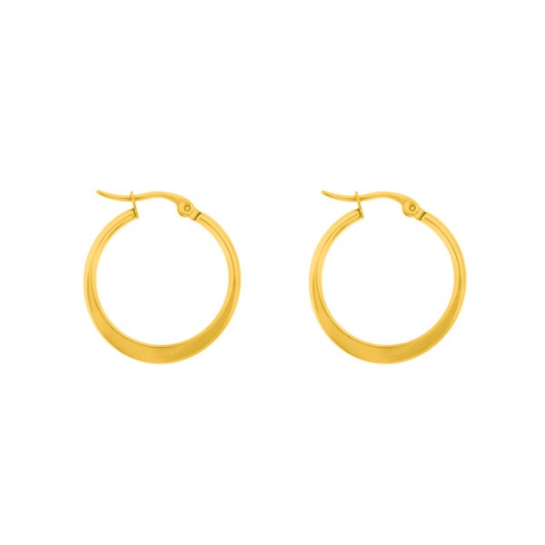 Earrings hoops round statement medium gold