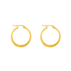 Earrings hoops round statement medium gold