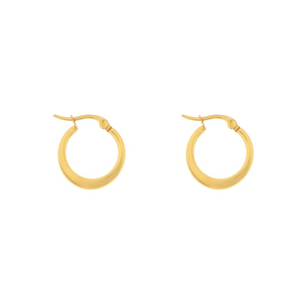 Earrings hoops round statement small gold