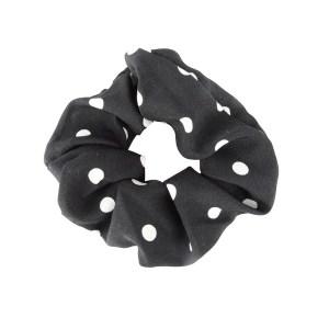 Scrunchie dots black