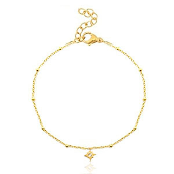 Bracelet sparkling star gold