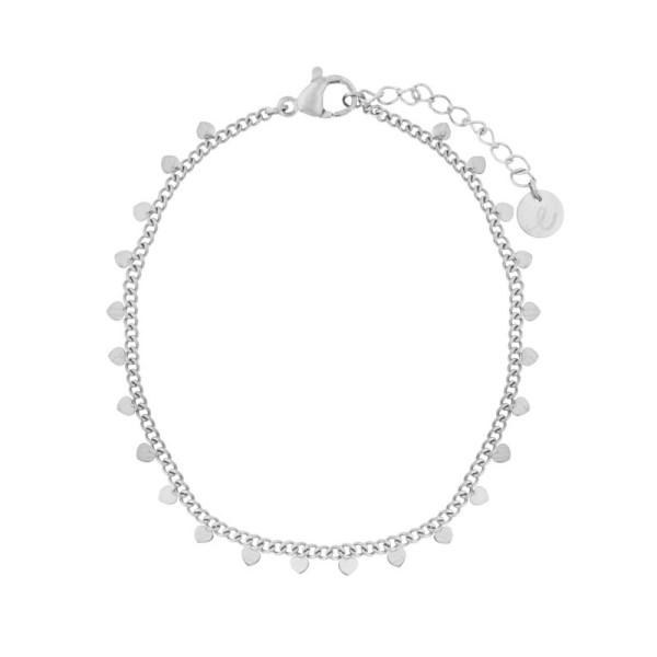 Bracelet hearts silver