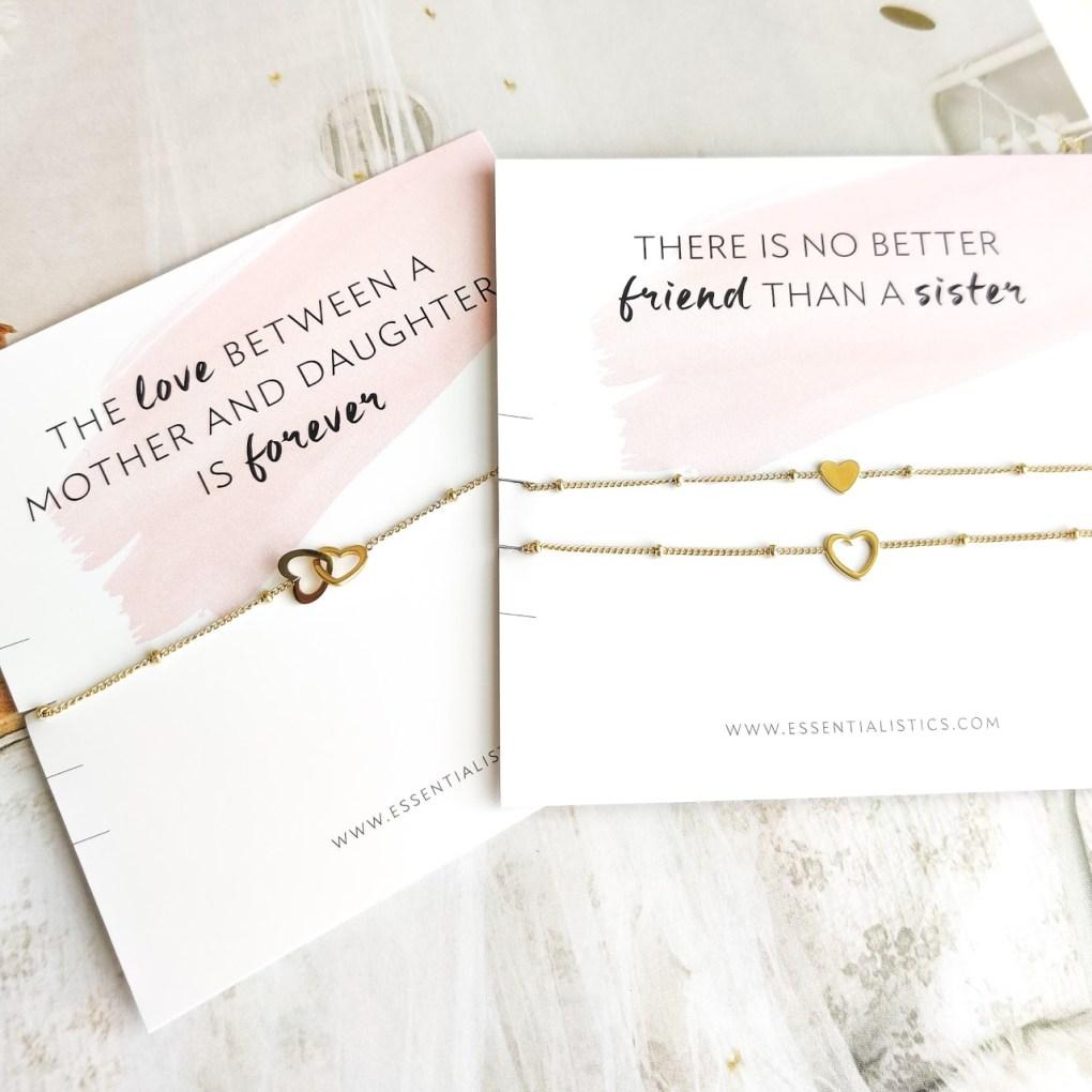 Heart bracelets to share