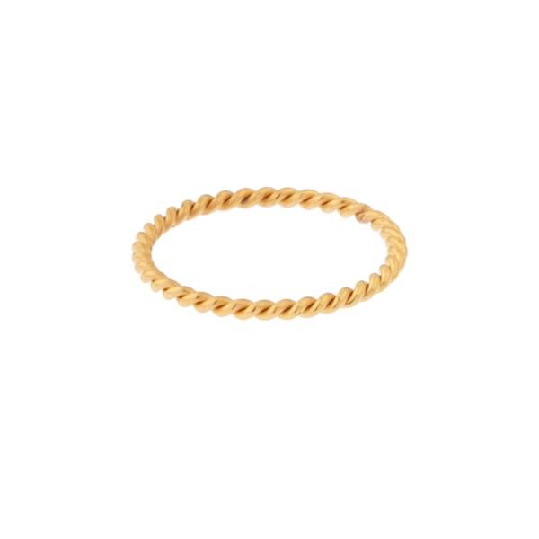 Ring basic twisted gold