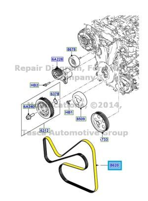 NEW OEM ENGINE DRIVE BELT 201113 FORD TRANSIT CONNECT 2