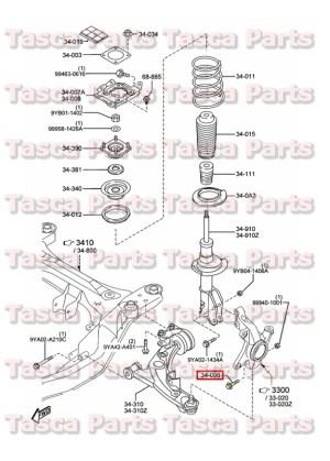 Suspension Diagram On Mazda 5 Mazda Auto Parts Catalog And Diagram