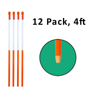 """Reflective Driveway Markers 4"""" Orange 12-Pack"""