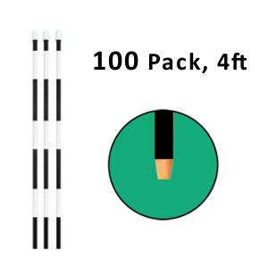 "Reflective Driveway Marker 4"" Black 100 Pack"