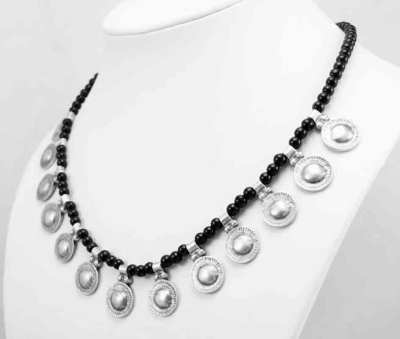 Black ethnic necklace. Turkish jewellery collection