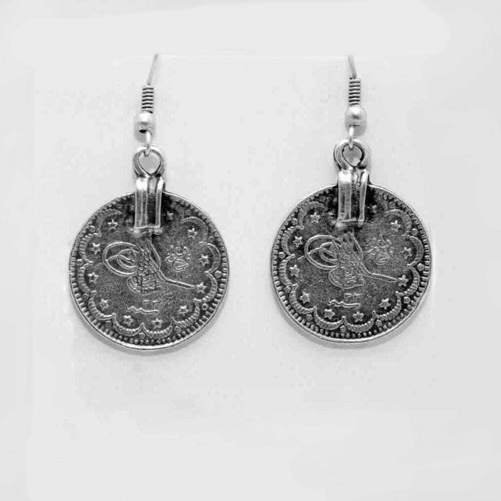 Turkish coin earring