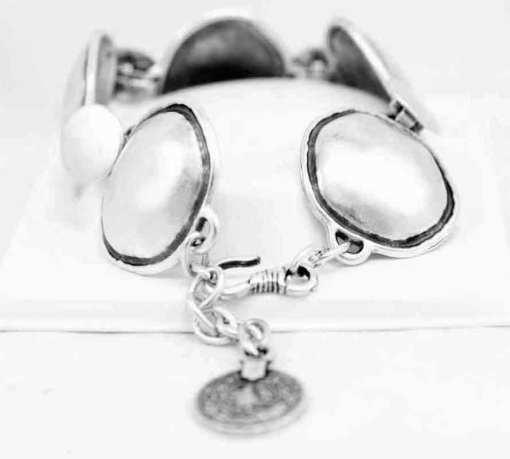 Smooth silver bracelet