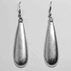 Silver droop earrings