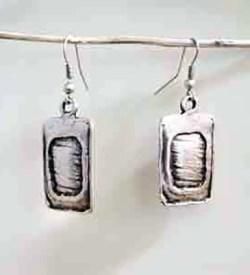 Shiny Aquare Earrings