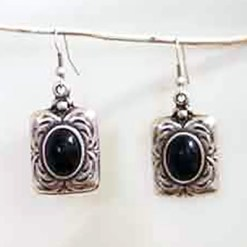 Small black stone earrings