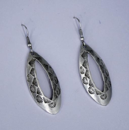 Silver engraved wholesale earrings